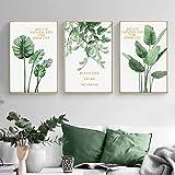 Grüne Pflanze Wohnkultur Wandkunst Leinwand Malerei Nordic