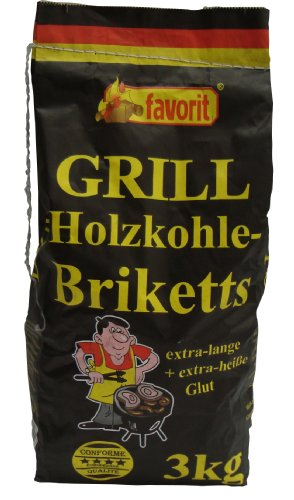 Favorit 4321731 3 kg Charcoal Briquettes - Multi-Colour