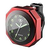 OBEST 22mm - 28mm Motorrad Uhren umstellbare Lenkeruhr Wasserdichtes Zifferblatt