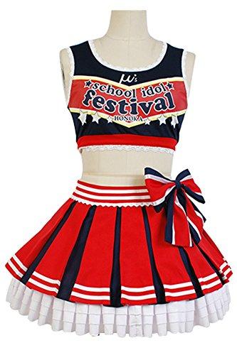Fuman LoveLive! Honoka Kousaka Cheerleaders Cosplay Kostüm Maßanfertigung (Honoka Kostüme)