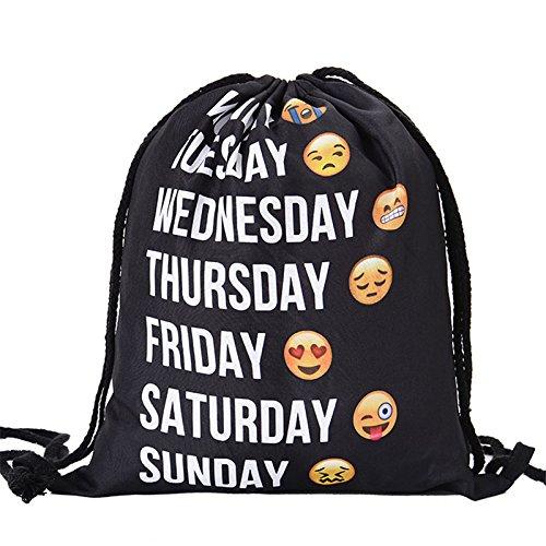 Imagen de merssavo  emoji deportiva moda emoji lindo patrón 3d viaje  suave harajuku lazo bolsa nuevo ?color 2