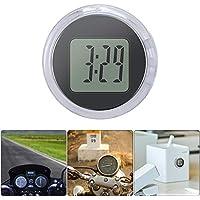 PopHMN Mini Reloj Universal para Motocicleta, Reloj Mini Reloj Digital IP64 Impermeable Reloj Digital para Motocicleta con Adhesivo 1.1 (1pc)