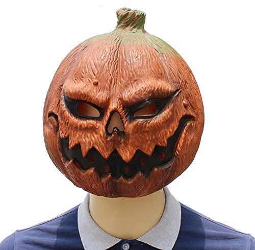 MIANJU Halloween Kürbis Kopf Maske Horror lustige Gesicht Latex Tanz Party Kleid spielt Ghost Festival Requisiten (Halloween-kürbis Gesicht Lustige)