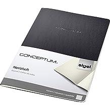 Sigel CO860 Cuaderno de notas, aprox. A4, cuadriculado, Softcover, schwarz, CONCEPTUM