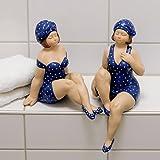 Sammlerfigur Skulptur Becky blau/weiß Höhe 21 cm und 31 cm sortiert