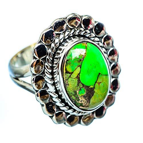 Green Copper Composite Turquoise, Grüner Kuper zusammengesetzter Türkis 925 Sterling Silber Ring 6.5 (Ana Silver Co Ringe Grün)