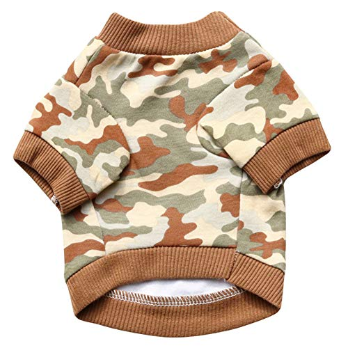 Homeofying Camouflage Print Winter Pet T-Shirt Sweatshirt Coat Kostüm Kleiner Hund Kleidung