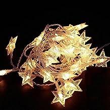 WER Guirnalda de Luces en forma de estrella LED luz para decoración de boda, fiesta, navidad, etc.(5m)