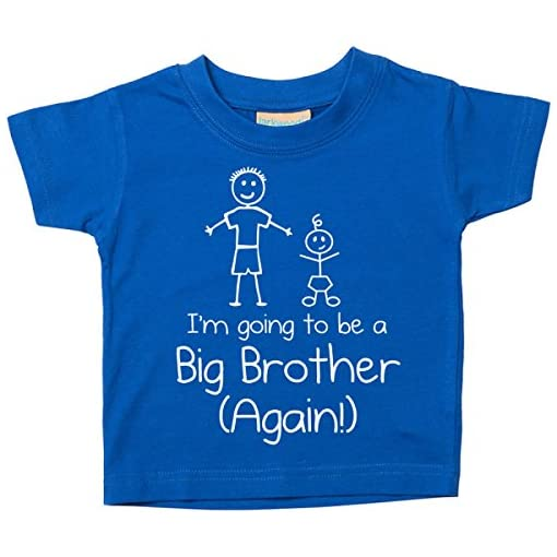 60-Second-Makeover-Limited-Blue-Im-Going-to-Be-A-Big-Brother-Again-Blue-Tshirt-Baby-Toddler-Kids-Available-in-Sizes-0-6-Months-to-14-15-Years-New