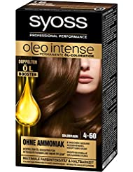 Syoss Oleo Intense Haarfarbe, 4-60 Goldbraun, 3er Pack (3 x 115 ml)
