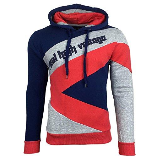 subliminal-mode-sweat-shirt-mit-kapuze-gestreift-herren-fashion-mode-sb-4727-pullover-gr-xl-marine