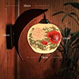 Dlpfmodern Creative Thin Tire Ceramic Wall Lamp Bedside Dining Room Dining Room Wall Lamp One Has Attained A Success And Is Well-Contented