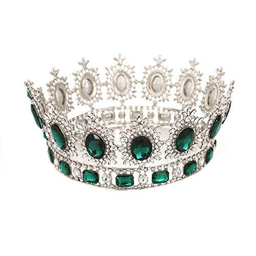 SONGpai Frauen Haarband Krone Braut Haar Ornaments Party Hochzeit ZubehöR Edelstein,Green
