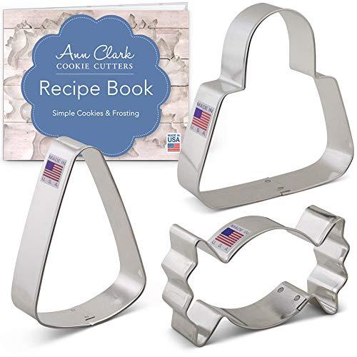 Ann Clark Ausstechformen-Set für Süßigkeiten, mit Rezeptheft (englischsprachig), 3-teilig, aus Stahl