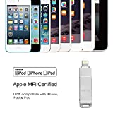 GMYLE [Apple MFi Zertifiziert] (128GB) Lightning USB-Stick für iPhone iPad, mobiler Flash-Laufwerk Speicherstick mit Lightning Anschluss (Weltraum grau)