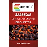 SAPRETAILER Coconut Shell Charcoal Briquettes (5kg) for Barbecue