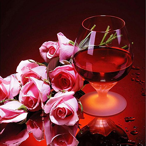 osmanthusFrag Schöne 5D DIY Diamant Stickerei Malerei Kreuzstich Dame Rose Muster Home Wall Decor Red Wine Rose -