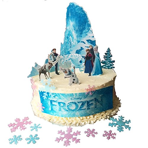 Frozen Scene Edible Wafer Paper Cake Toppers with 50 mixed colour