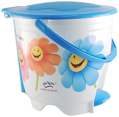 Princeware 4419-P Printed Wave Round Small Garbage Bucket (Assorted Colors and Prints)