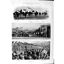 Golf 1901 de Wargrave Charles Volodyovski Reiff de Course de Chevaux de Derby Chiene Morris