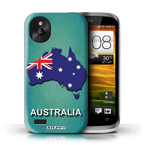 Kobalt® Imprimé Etui / Coque pour HTC Desire X / Autriche conception / Série Drapeau Pays Australie