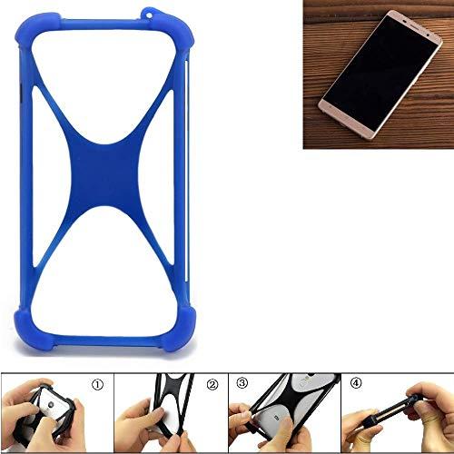 K-S-Trade Handyhülle Cubot Cheetahphone Silikon Schutz Hülle Cover Case Bumper Silikoncase TPU Softcase Schutzhülle Smartphone Stoßschutz, blau (1x)