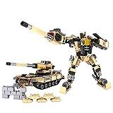 #8: COGO Army Action MagiBrix Mecha Tank Transformation Building Blocks Set 308 Pcs Transformer Robot Army Tank Educational Building Block set For Children