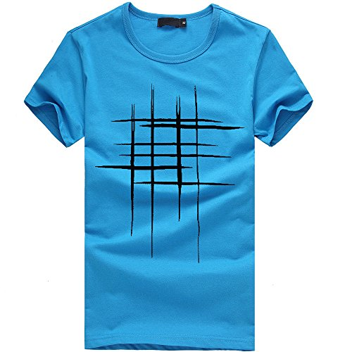 Chemisier Homme Casual Mince Solide à Manches Courtes T-Shirt Haut Malloom