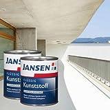 2 x Jansen Flüssig Kunststoff weiß 2,5l - 5 Liter Vorteilspack - Flüssigkunststoff