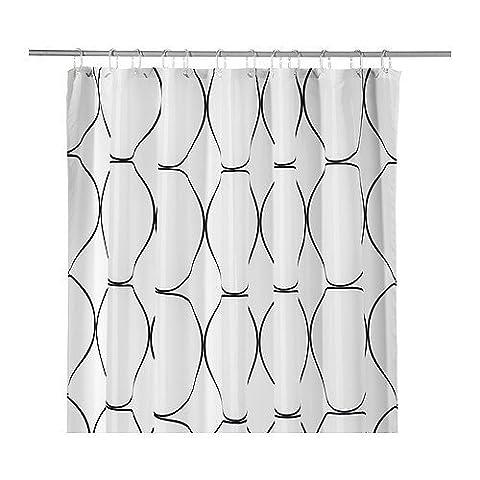IKEA UDDGRUND Duschvorhang Badewannenvorhang Wasser