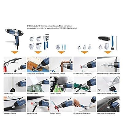 Steinel Heißluftpistole HL 2020 E im Koffer, Inkl. 9mm Reduzierdüse, 2200 W Heißluftfön, LCD-Display, 80°-630°C von Steinel - Heizstrahler Onlineshop