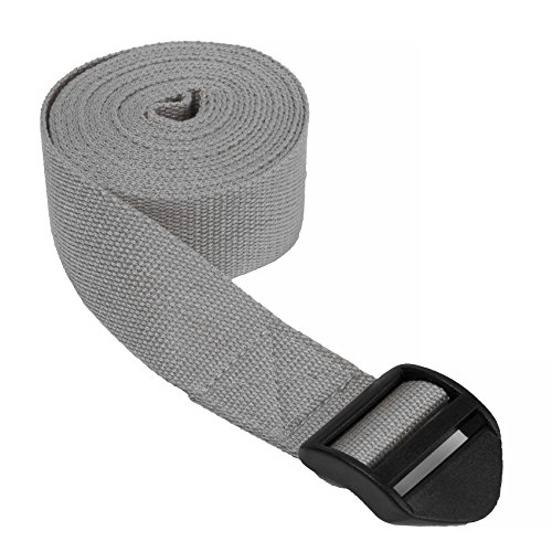 Yogagurt »Sadira« / Yoga Gurt 100% Baumwolle mit Verschluss / 280 cm (110') x 3,8 cm (1,5') erhätlich in der Farbe Grau