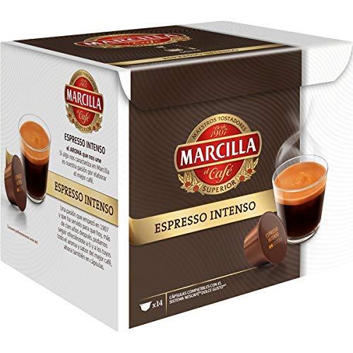 MARCILLA Espresso Intenso - cápsulas compatibles con las cafeteras Nescafé(R)* Dolce Gusto(R)* | 3 paquetes de 14 cápsulas - Total 42 cápsulas