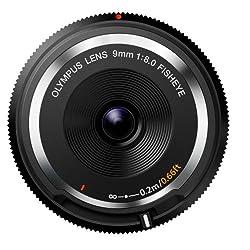 Olympus BCL-0980 Objectif Pancake Fisheye 9 mm Noir