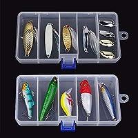 Sungpunet - Caja organizadora de plástico Transparente para señuelos de Pesca