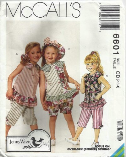 McCall's 6601 - Adorable Summer Outfits for Your Little Ones - Size CD (2, 3, 4) by McCall's (Adorable Outfits)