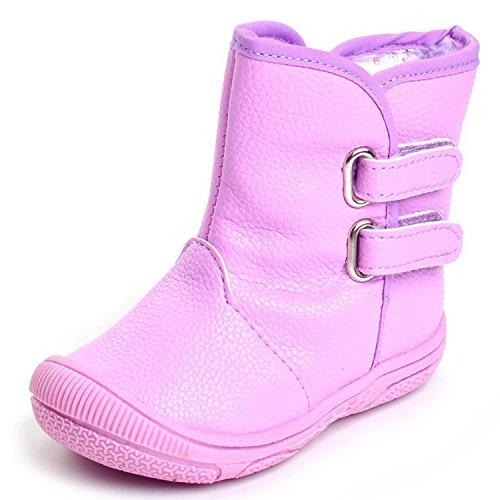 SAGUARO Baby Jungen Winterstiefel Schlupfstiefel Maedchen Babyschuhe mit Warmfutter Schneestiefel Kleinkind Schuhe, lila, EU 20