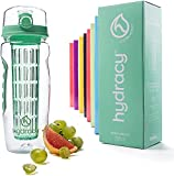 Hydracy Fruit Infuser Water Bottle - 1 Liter Sports Bottle with Full Length