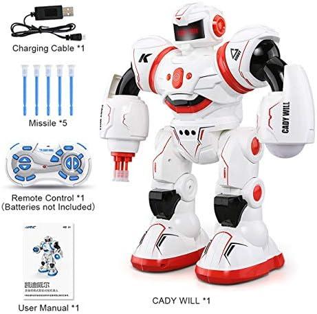 Jasnyfall RC Robot programmable Defender Musical Danse Intelligent Toy Kid Cadeau | Commandes Sont Les Bienvenues