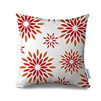"""Popeven Canvas Accent Pillow Case Firework Throw Pillow Case Square Decorative Floral Pattern Pillow Cover with Zipper Standardard Size Pillowcase 18x18"""""""
