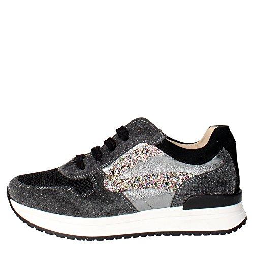 Florens Z6660 Sneakers Bambina Pelle/camoscio Nero Nero 32