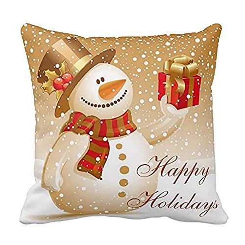 Huacat Weihnachtskissenbezug Super Soft Plüsch Heimkissen Dekorative Wurfkissenbezüge Weihnachts Kissenbezug Weihnachtsmann Kissenbezüge Sofakissen Heimdekoration
