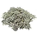 #8: Imported 50Pcs Tibetan Silver Filigree Hollow out Angel Charms Pendants DIY Jewelry