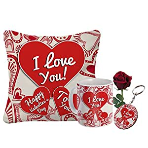 Sky Trends Valentine Day Gift For Husband Printed Coffee Mug Cushion Cover Keychain Rose Best Gift For Husband