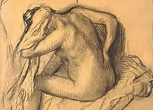 """Edgar DEGAS """" Après la bain, femme se séchant les cheveux """" Détail Environ 1885 Sur Format A3 Papiers Brillants de 250g. Affiches de Reproduction"""