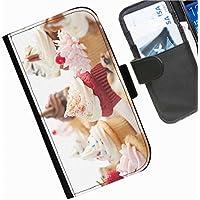 Hairyworm- Kuchen Seiten Leder-Schützhülle für das Handy Sony Xperia M2 Aqua