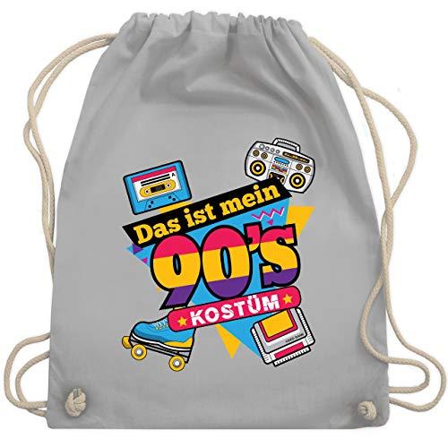 Gruppe Kostüm Themen Sport - Karneval & Fasching - Das ist mein 90er Jahre Kostüm - Unisize - Hellgrau - WM110 - Turnbeutel & Gym Bag