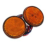 #6: MagiDeal Great Performance 2X 24SMD Round Tail Turn Singal Light Lamp LED Side - as described, Yellow