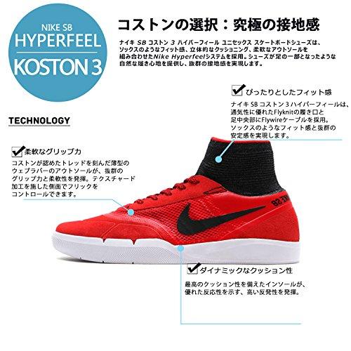 Nike Sb Hyperfeel Koston 3, Chaussures de Skate Homme Rouge - Rojo (University Red / Black-White)