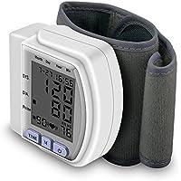 Presión arterial automática digital Pantalla LCD Monitor de presión arterial de muñeca Pulso ritmo latido del.